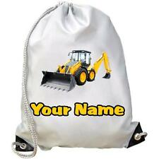 Digger Dance / Gym / Swim / PE Bag Personalised With Your Childs Name