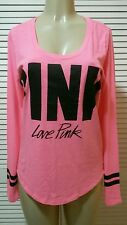 VICTORIA SECRET'S PINK NEW! LONG SLEEVE PINK GRAPHIC TEE  LARGE