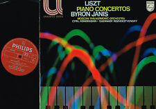 Liszt PIANO CONCERTOS LP Byron Janis KONDRASHIN PHILIPS Holland 6582 003 @EXCLT@