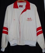 Vintage Winston Swingster Womens White Red Jacket Coat XL Nascar USA Racing