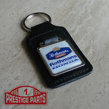 Rothmans Racing Honda logo Genuine black leather keyring keyfob