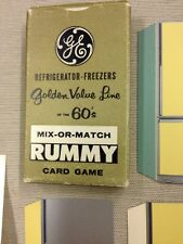 RARE GE General Electric 60's Refrigerator Store Advertisement Card Game Vintage