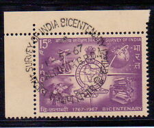 india stamp  Emblem of Survey of India  f.d.cancelled