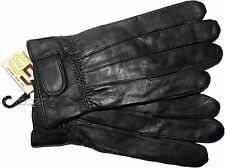 New (L) Women's Leather Gloves, Black warm Winter Gloves casual leather Gloves *
