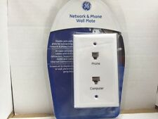 Network and Phone Wall Plate GE 10 Pack