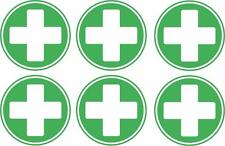 set of 6x first aid cross sticker vinyl health box decal macbook self adhesive
