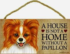Papillon Wood Dog Sign Wall Plaque 5 x 10 for Dog Lovers Gift House Leash Breed