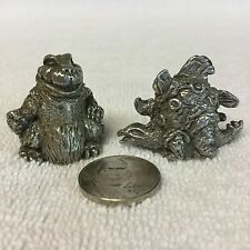 "Two Pre~Owned Prehistoric~ Predominate ""Dinosaurs"" Pewter Thimbles~ Hand Crafted"