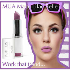 MUA Make Up Academy Matt Lipstick Lilac Belle Purple Pink Undressed Naked Violet