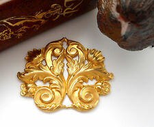 BRASS Flourish Scroll Acanthus Leaf Stamping (FB-6042) `