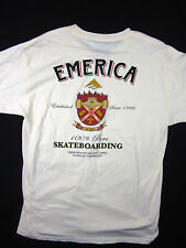EMERICA skate brand Top Shelf Classic fit men's T-Shirt Ivory size SMALL