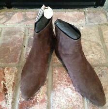 ZARA WOMAN COLL Auth Suede Leather CoCo Decorate Ankle Boots Sz 9usa 40eur NWTs
