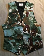 Fox Hunt Hunting Riders Vest Crazy Horse Size Small