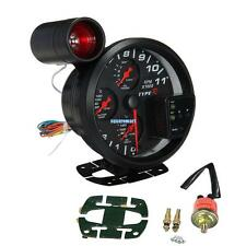 4 in 1 11K RPM Tachometer Oil Pressure Water & Oil Temp Gauge With Shift Light