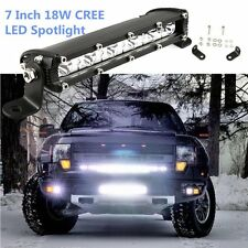 7'' 18W Cree LED Work Light Bar 4WD Offroad Spot Fog Light ATV SUV Driving Lamp