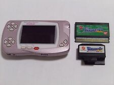 USED BANDAI GAME Console WonderSwan Color Crystal PINK w/ Digital Monster Game