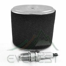 NEW AIR CLEANER FILTER ELEMENT AND SPARK PLUG FOR HONDA GX160 5.5HP GX200 6.5HP