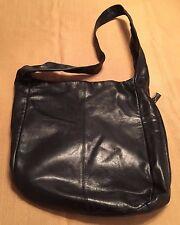 Enzo Angiolini Soft Black Leather Shoulder Bag Tote VGUC