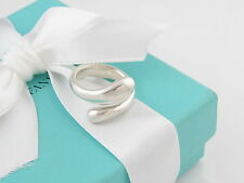 Tiffany & Co Peretti Silver Teardrop Ring Band Size 6 MSRP $500 Box Included