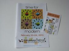 2013 Time For Modern 20th Century Cincinnati Vtg Art Home Show Program + Ticket
