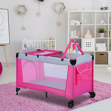 Homcom Portable Baby Bed Travel Cot Play Diaper Change Bassinet Toy Hammock NEW