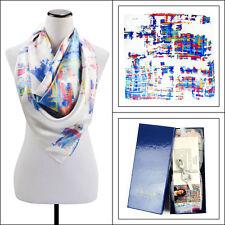 """New ITALO FERRETTI Handmade 42"""" Artist Limited Edition Silk Shawl Wrap Scarf NIB"""