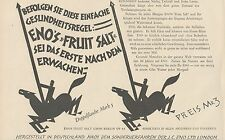 Y4740 Eno's Fruit Salt - Pubblicità d'epoca - 1927 Old advertising