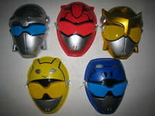 Japanese Character power rangers Go-busters Gobusters set of 5 PVC facemasks