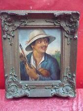 schönes, altes Gemälde__Mann mit Geige__signiert__ !