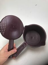 Pampered Chef microwave plastic pan steamer rice cooker w/cover 4 cups