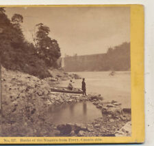 Banks of Niagara from Ferry Canada Side Niagara Falls Soule Stereoview c1870
