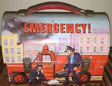 Vintage 1970's Alladin Fire Engine Metal Lunch Box W/ Matching Thermos