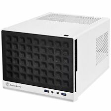 SilverStone Mini-DTX, Mini-ITX Small Form Factor Computer Case Black/White NEW