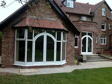 Bespoke Hardwood Bay Arched French Doors with fanlight! Made to Measure!!!