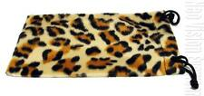 Fuzzy Soft Leopard Print Sunglasses Glasses Pull Pouch Carry Care Case Leo C16