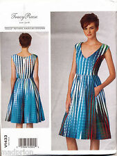 VOGUE SEWING PATTERN 1433 MISSES 6-14 TRACY REESE, LINED DRESS W/ PRINCESS SEAMS
