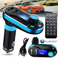 LCD Bluetooth Audio Player FM Transmitters Wireless MP3 Dual USB Charger Car Kit