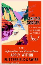 Yangtsze Gorges Heart of China #2 Vintage Travel Advertisement Art Poster Print