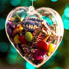 x20 Forma De Corazón Transparente Vacío San valentín Contenedores 80mm