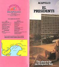 El Presidente Hotel Acapulco Mexico Vintage Travel Brochure Color Photos