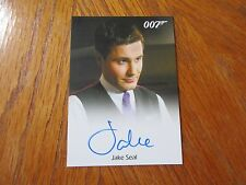 James Bond Archives 2016 SPECTRE Jake Seal as Bartender Autograph Card
