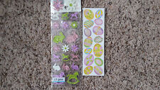 Easter Glitter Stickers ~ Flowers Bunny Eggs Rocking Horse