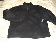 NEW OLD NAVY MENS Size XXL WINTER COAT WOOL DRESS JACKET BLACK ZIPPER LINED NWT