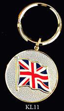 BRASS & ENAMEL KEY RINGS - UK FLAG