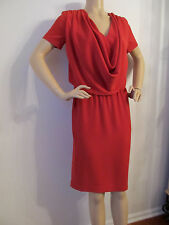 NEW  ST JOHN KNIT SIZE 6 WOMENS RED BERRY CREPE  DRESS