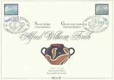 Belgium Finland 1991 FDC Card - Alfred William Finch - Joint Publication