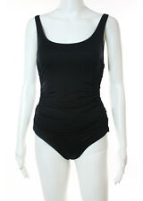 NWT DKNY SWIM Black Cut Out Side Open Back One Piece Bathing Suit Sz 6 $118