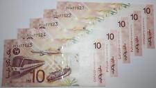 (PL) RM 10 ZE 5677521-25 UNC 5 PCS 2004 MALAYSIA ZETI REPLACEMENT NOTES