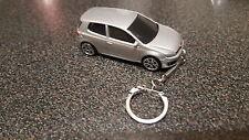 Diecast Volkswagon VW Golf GTi Mk VI 6 Silver Toy Car Keyring Keychain