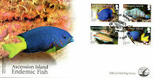 Ascension Island 2016 FDC Endemic Fish 4v Set Cover Wrasse Fishes Marine Stamps